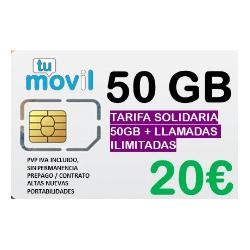 Tarifa Solidaria 50GB